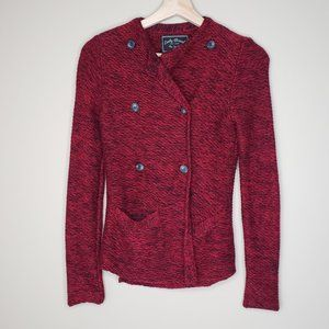 Lucky Brand Marled 3rd Piece Button Front Sweater